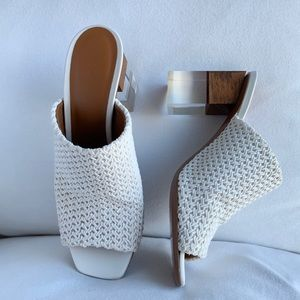 Neous Anguola Woven Leather Mules